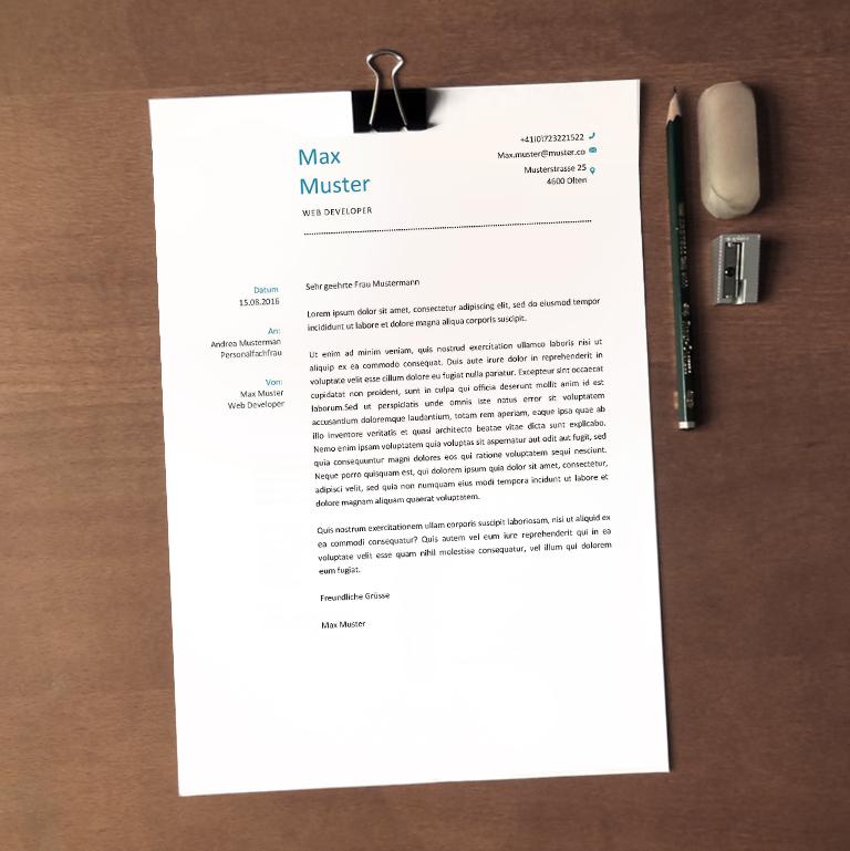 Bewerbungsschreiben